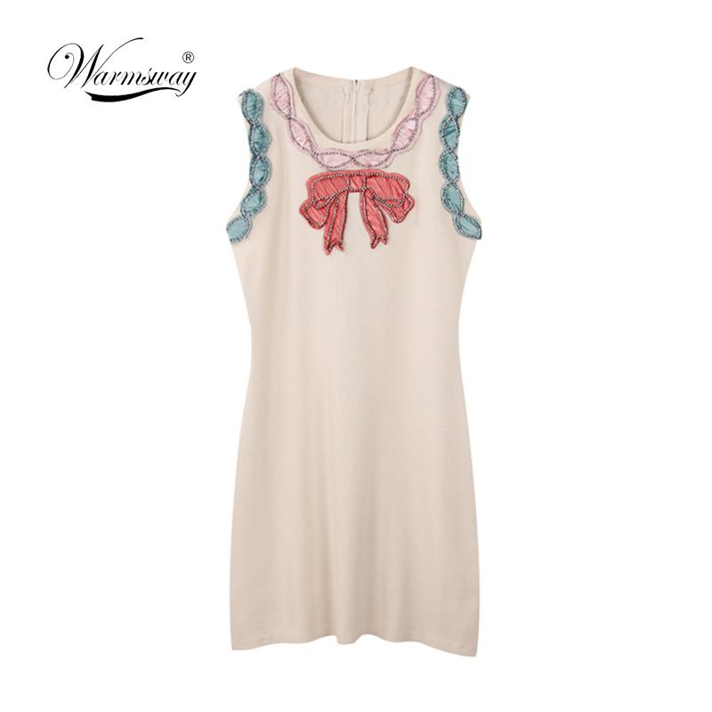 2018 Elegant knit Diamond Summer Dress Sleeveless Lovely Short Dress For Women Sexy Slim Party Dresses Vestidos C-062