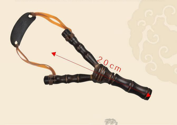 20cm 8 Inch Bamboo Style Wooden Sling Shot Toys Originality Novelty Games Slingshot Bow Catapult Hunting