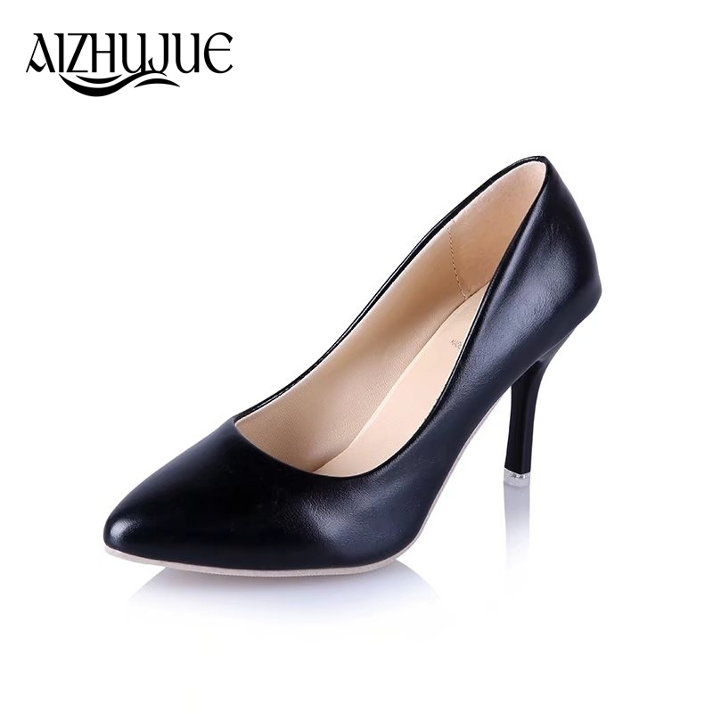 Size 34-45 women pumps 2019 new fashion sexy prom party classic white black pink light green OL office career high heels