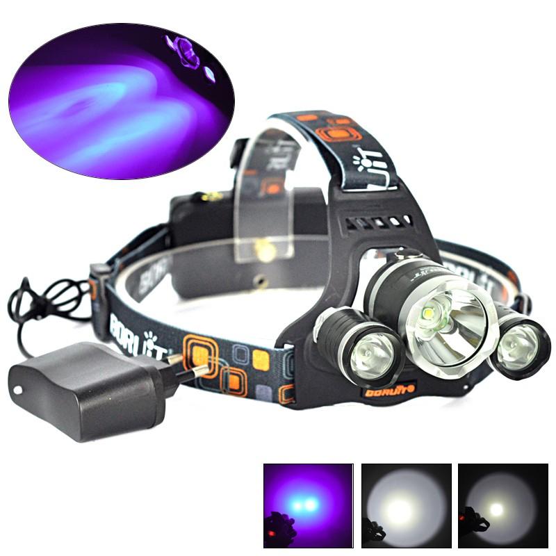 BORUiT 20000LM XML T6 LED Zoomable Headlamp Flashlight Camping Light AA Battery