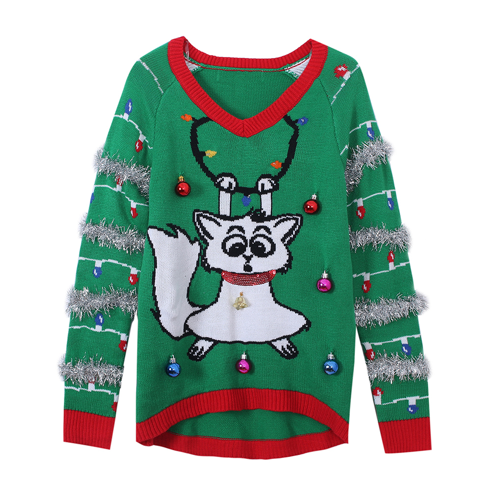 2019 Led Light Up Knitted Ugly Jumper Snowman Deer Sweaters Santa Claus Xmas Patterned Christmas Sweaters Tops Men Women Pullovers V191130 From
