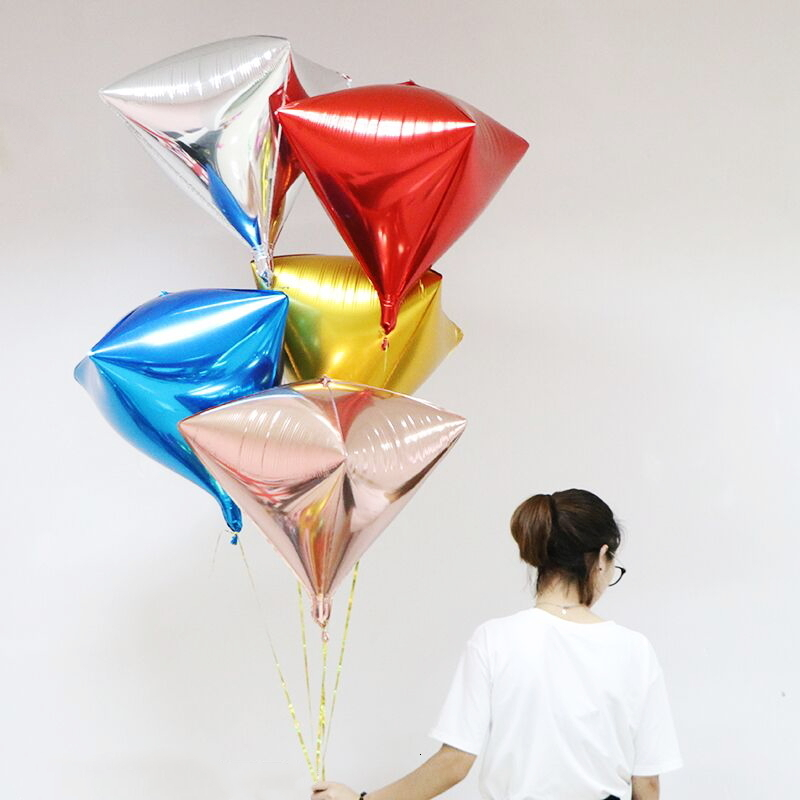 20pcs-24-inch-Rose-Gold-4D-diamond-Cube-Shaped-Helium-Ball-Solid-Foil-Balloons-Party-Wedding