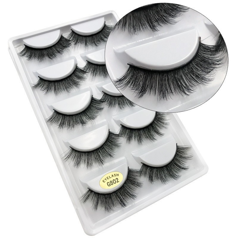 3D Mink Reusable False Eyelashes 100% Real Siberian 3D Mink Hair Strip False Eyelash Makeup Long Individual Eyelashes Mink Lashes Extension