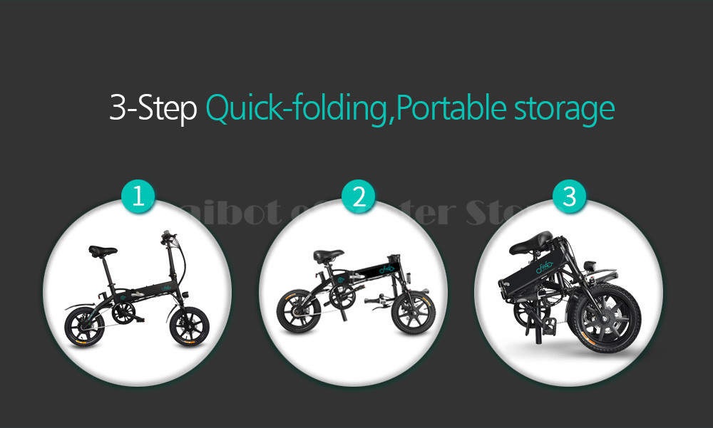 Fiido D1 Foldable Electric Scooter 2 Wheel Electric Bicycle 24V 250W Dual Brake System Portable Mini Folding Electric Bikes (9)