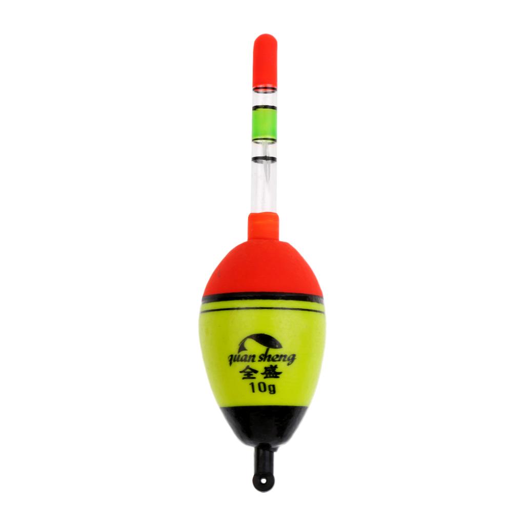10pcs Portable Wood Light Stick Drift Tube Bobber Fishing Float Color/_s C3G9