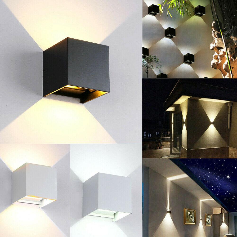 Applique Extérieure Eclairage Haut Et Bas lumière moderne d'extérieur d'intérieur d'intérieur de lampe de mur de  ménage de lampe de led imperméable