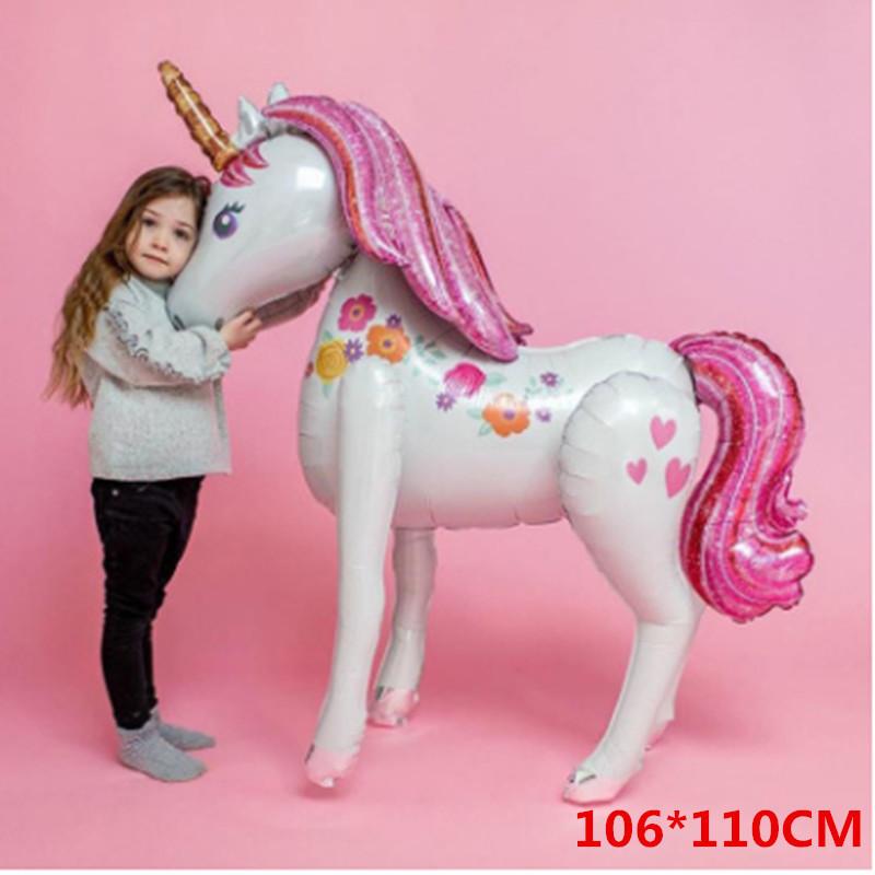 Fiesta Unicornio Globos Paquete de Globos de Fiesta de Cumpleaños Luna Llena Decoración de Cumpleaños Suministros para Fiesta Infantil de Niñas T8190610