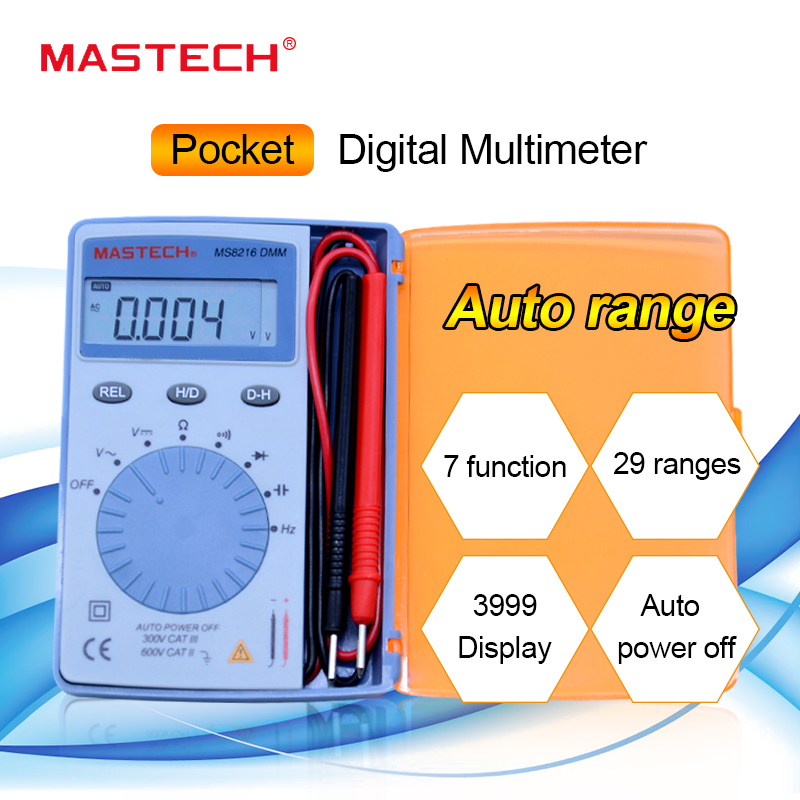 Ms8212a MASTECH PEN type Digital Multimeter Penna-Design AC DC Ohm Auto-ranging
