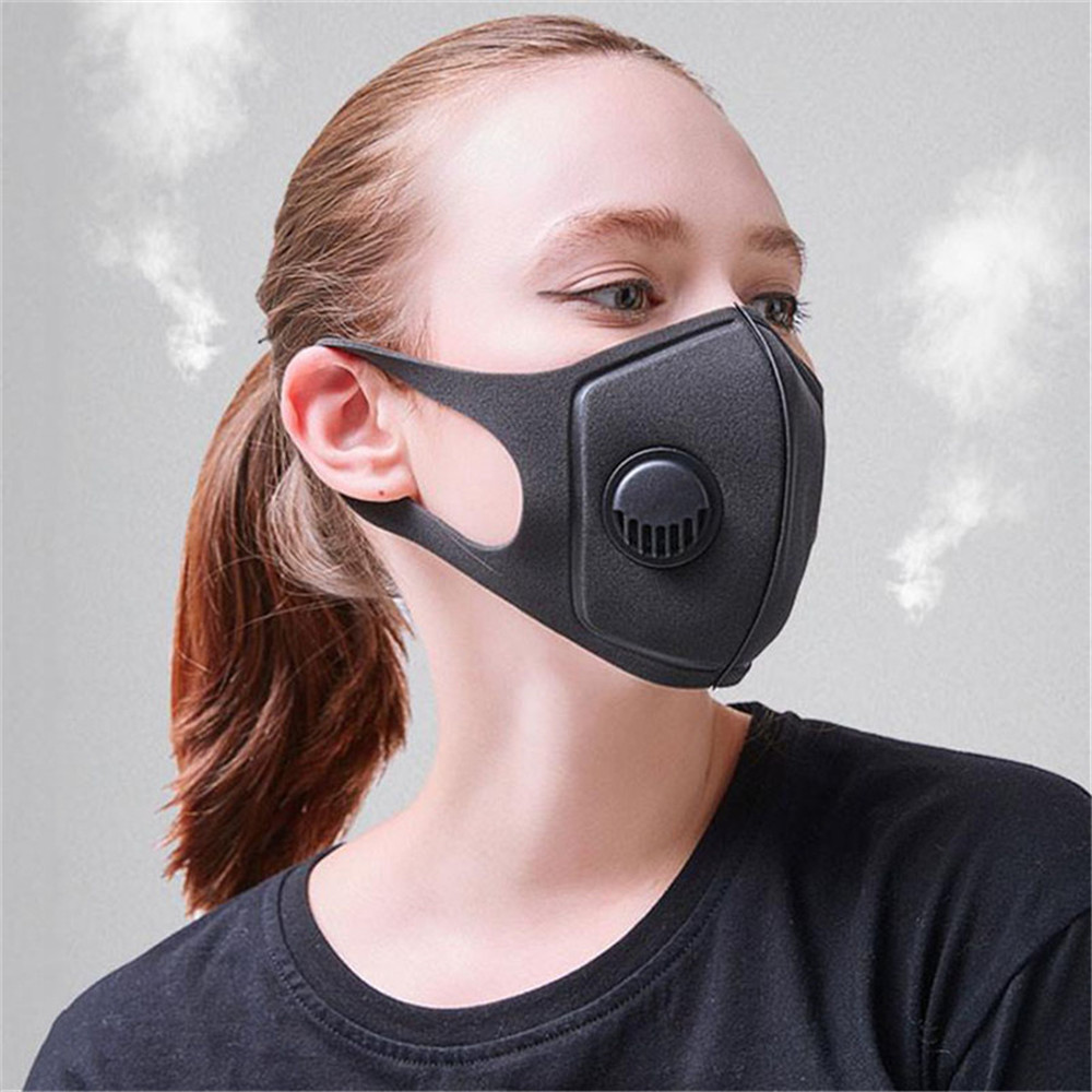 maschera antipolvere nera cotone