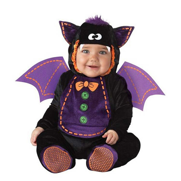 New-High-Quality-Baby-Boys-Girls-Halloween-Bat-Vampire-Costume-Romper-Kids-Clothing-Set-Toddler-Co (4)