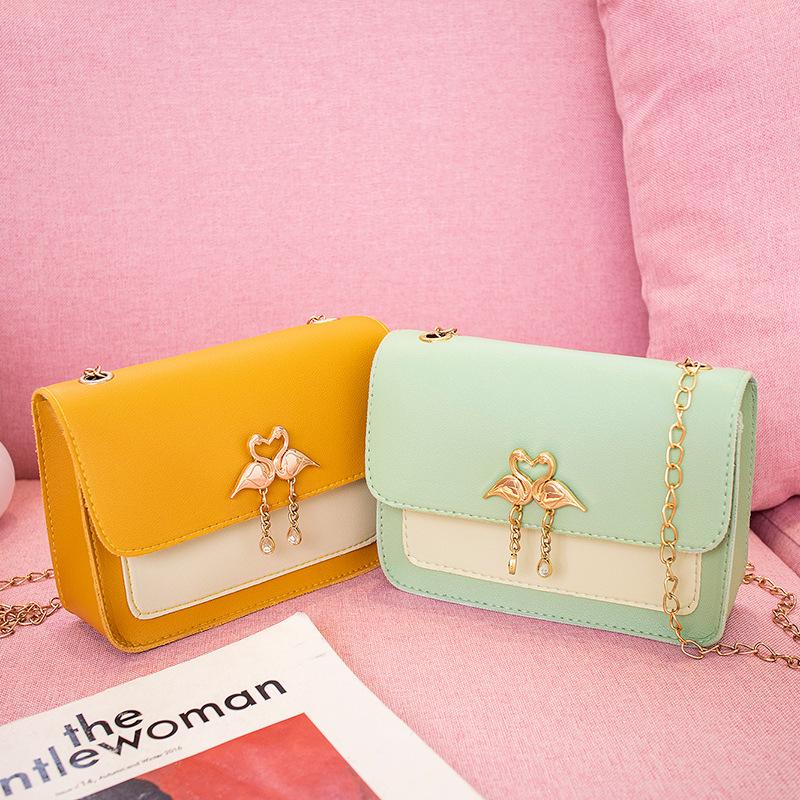 Mini Chain One Shoulder Bag Ladies Simple Small Square Bag Stylish Casual Slant Bag