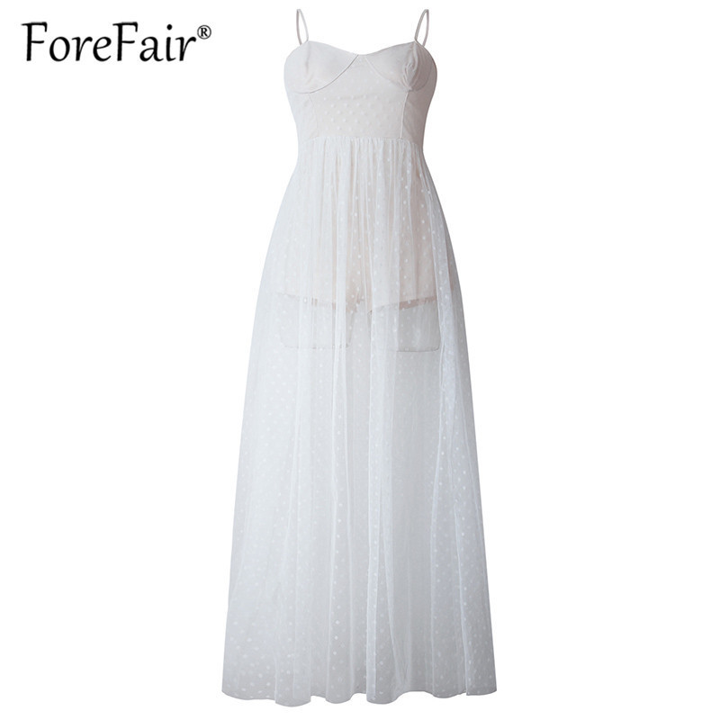Forefair women long mesh dress elegant black white sleeveless maxi party dresses 2019 Swimwear summer beach dress (20)