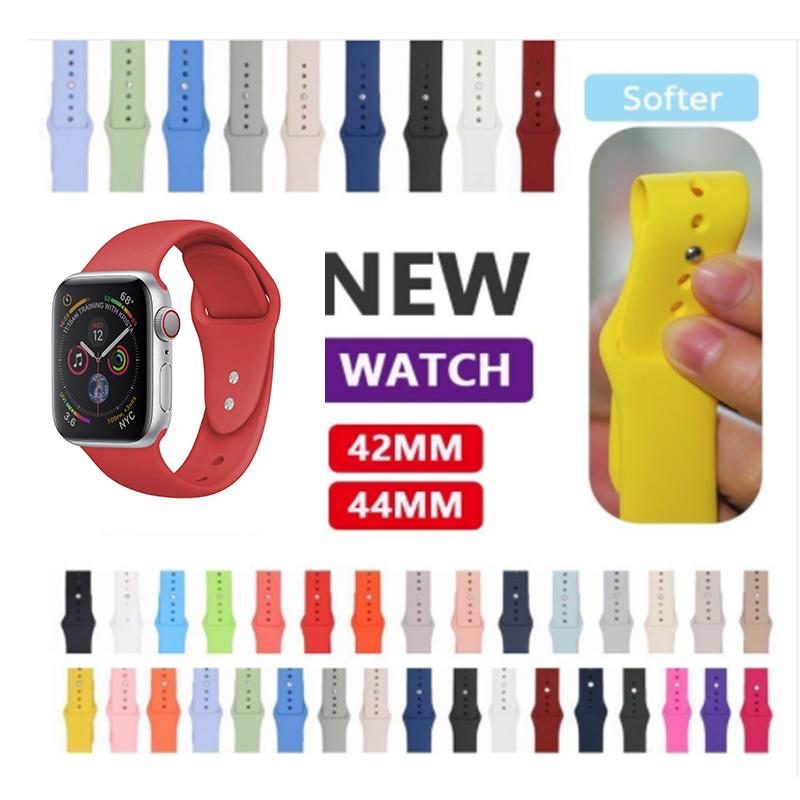 Wei/ß 44mm Mamum neuer F/ür apple iwatch 4//3//2//1 weichem silikon ersatz sportuhr band 42