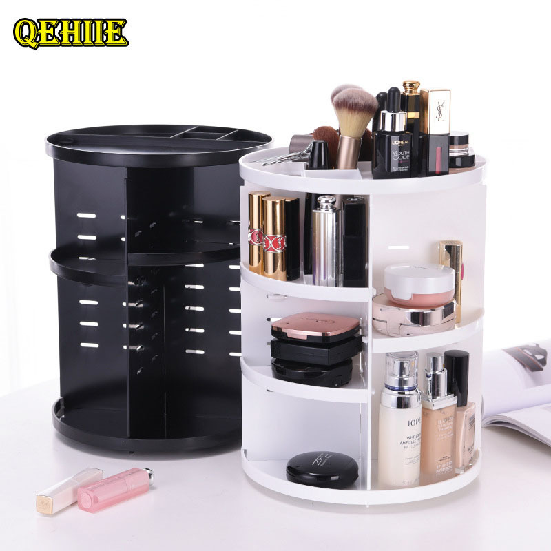 360-degree rotating cosmetic storage rack Cosmetic case cosmetic bag Organizer trendy style Convenient tidy toilet bag