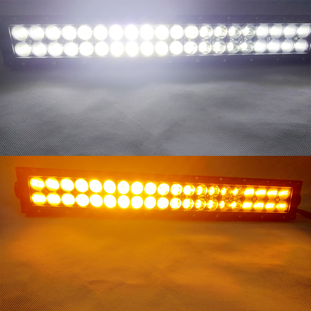 Curved 288w 50inch White Amber Led Light Bar LED FogLights For Off on