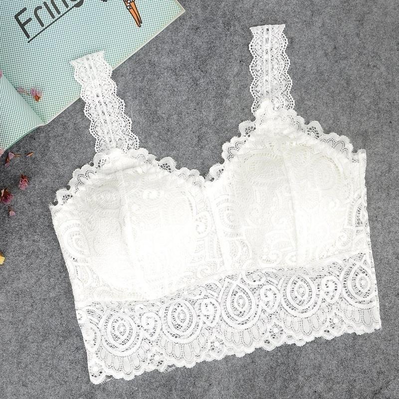 Cami Newest Crochet Lace Sleeveless Vest Sexy Women Tank Tops Blouse Bralette Bra Lady Fashion Crop Top