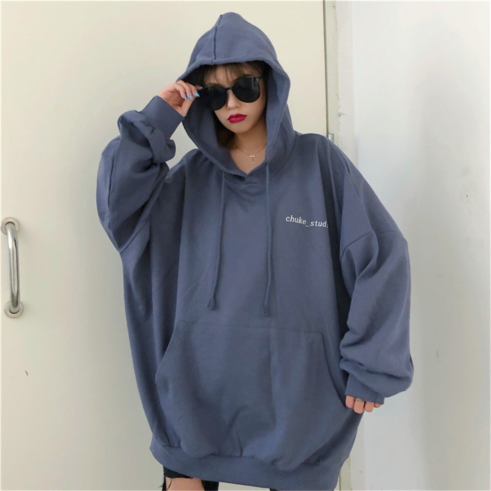 Oversize Hoodies Women Harajuku Female Sweatshirts Tops Student Hooded Hoodies Autumn Winter Loose Pocket Trendy Lady Sweatshirt