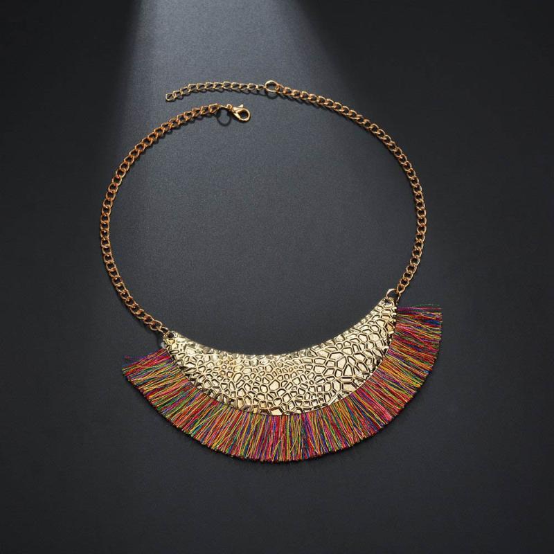 Halskette Damen Collier Statement Kette Modeschmuck Steinschmuck Silber Blau