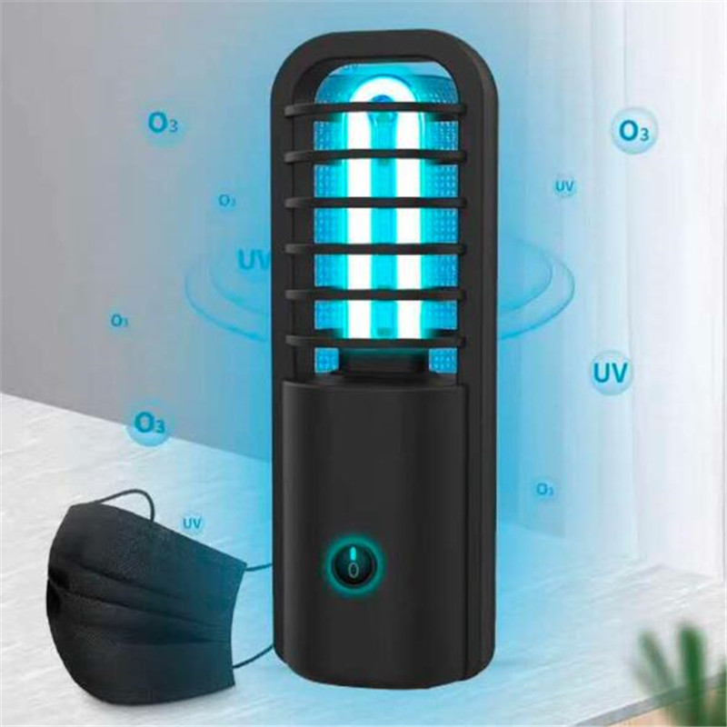 Ultraviolet Disinfection Lamp Rechargeable Portable UV Sterilization lamp Kills Up to 99.9/% of Mold Bacteria Germs and Viruses for Car Household School Hotel Pet Area