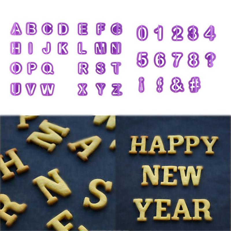 Silicone Moule russe Lettres 2 Alphabet ABC crème Gâteau Emporte-pièce