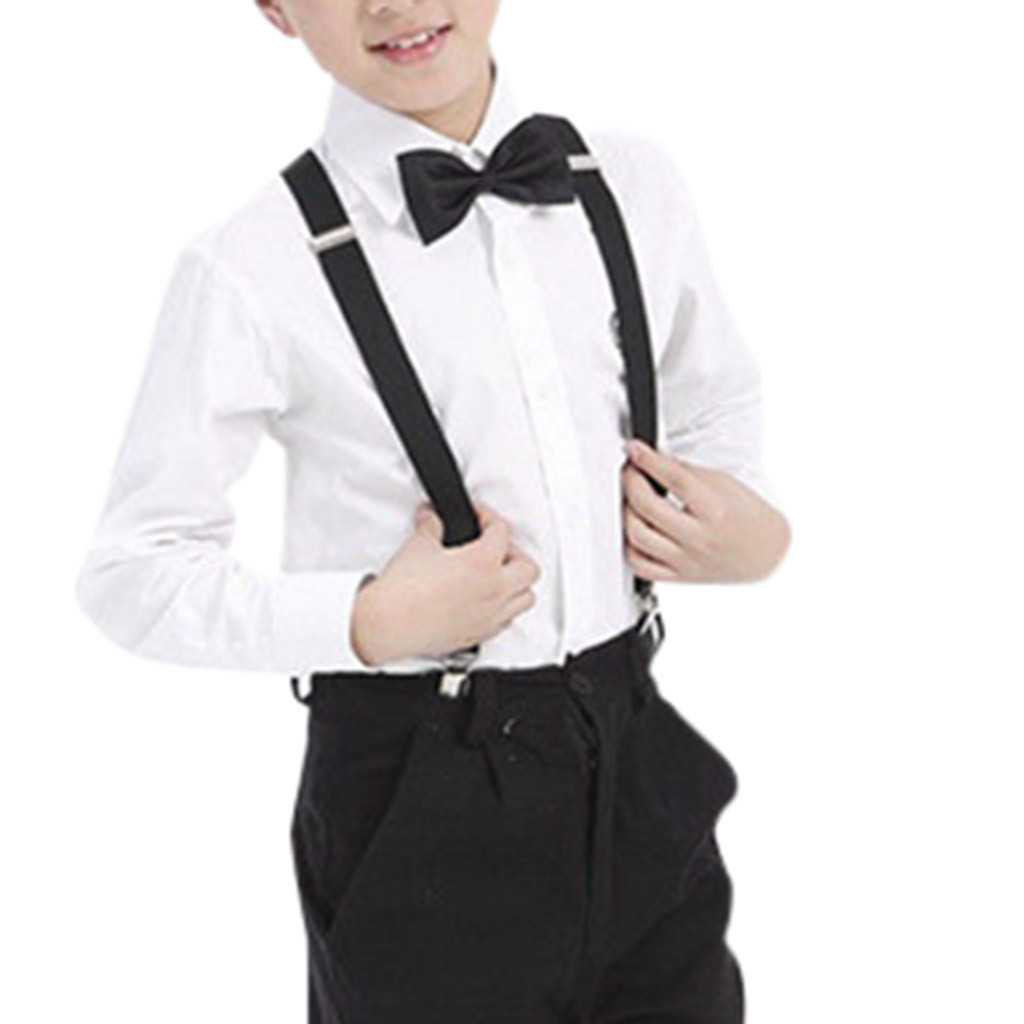 Grrry Kids Stay in Shape Adjustable Y-Back Suspender+Bow Tie
