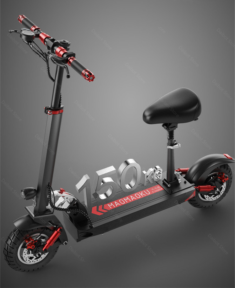Double Drive Electric Scooter Off Road 2 Wheels Electric Scooters 10 Inch 48V 1200W 45KMH Folding Kick Scooter For Adult (2)