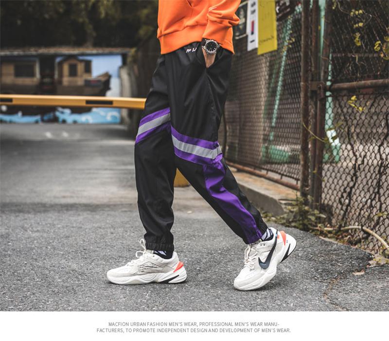 Loose Hip Hop Cargo Pants Men Camouflage Patchwork Harem Mens Trousers Streetwear (52)