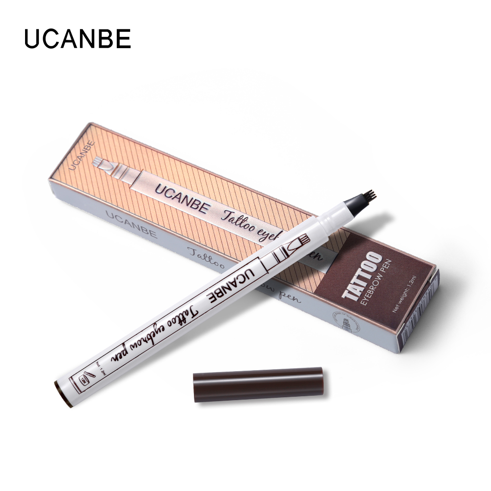 Wholesale DHL Fine Sketch Liquid Eyebrow Pen Long Lasting Makeup Waterproof Smudge-proof Eye Brow Pencil Tattoo Kit Durable Tattoo
