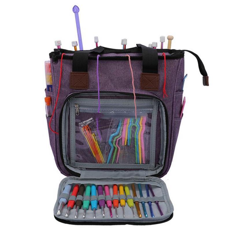 DMC Tejer Ganchillo Estuche Organizador Bolsa de almacenamiento de aguja de coser Wrap bolsa