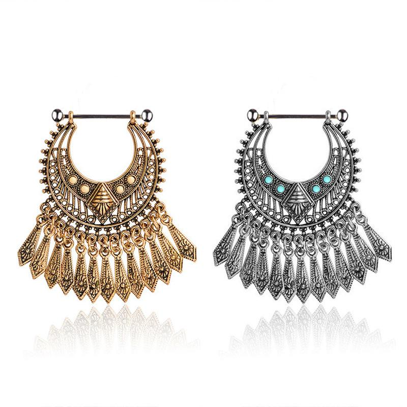 50pcs Body Jewelry 14 g ~ 1.6 mm Double Gemmes Langue Anneau Nipple Shield Bar Haltères
