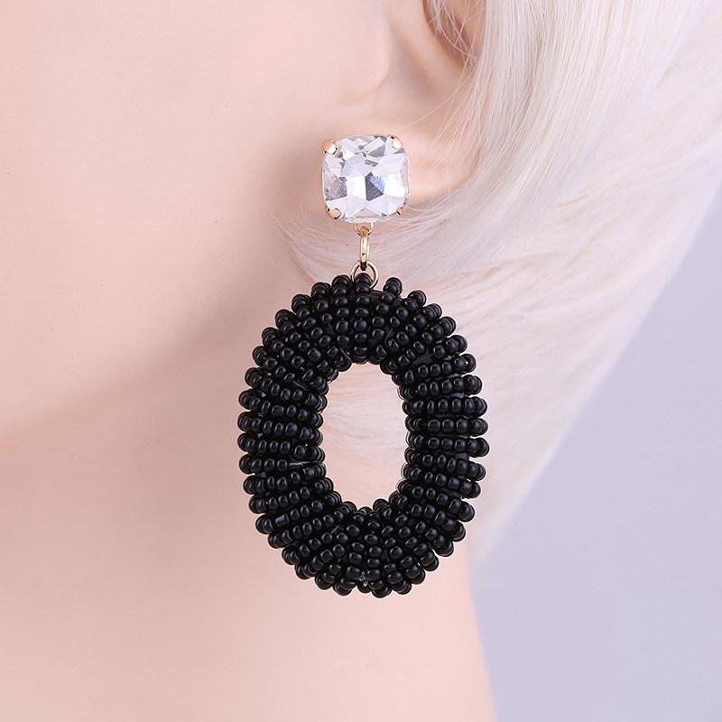 Earrings Black white