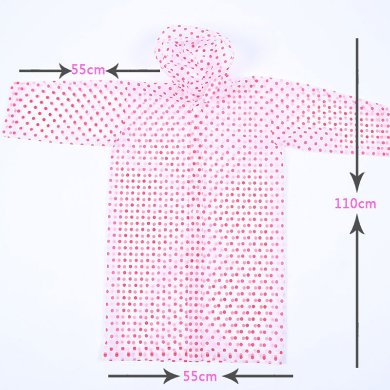 New Fashion Thicken EVA Dot Raincoats Children Waterproof Poncho Travel Camping Must Rain Coat Kids Emergency Rainwear