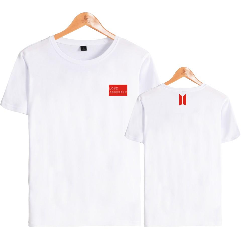 Bts Love Yourself World Tour T Shirts Bangtan Boys V Summer T Shirt Female Harajuku Girl T Shirt K-pop Bts Short Sleeve Tees Y190123