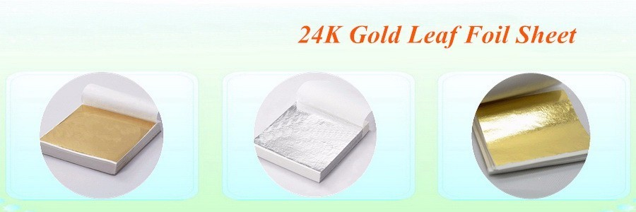 24K Gold Leaf Foil Sheet
