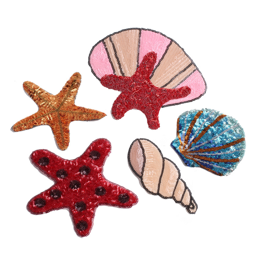 Embroidery UNICORN SHELL CAKE Sew Iron on 4PCS SET Patch Motif Badge Applique