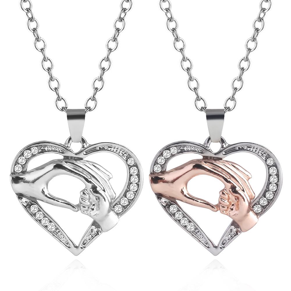 6pcs//Lot women Stainless steel Lovely Heart Link chain Link Necklace in bulk