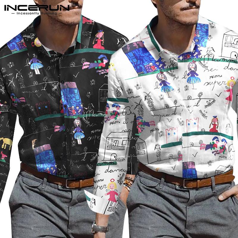 dan-dar Casual Shirt Mens Clothing Button Turn Down Collar
