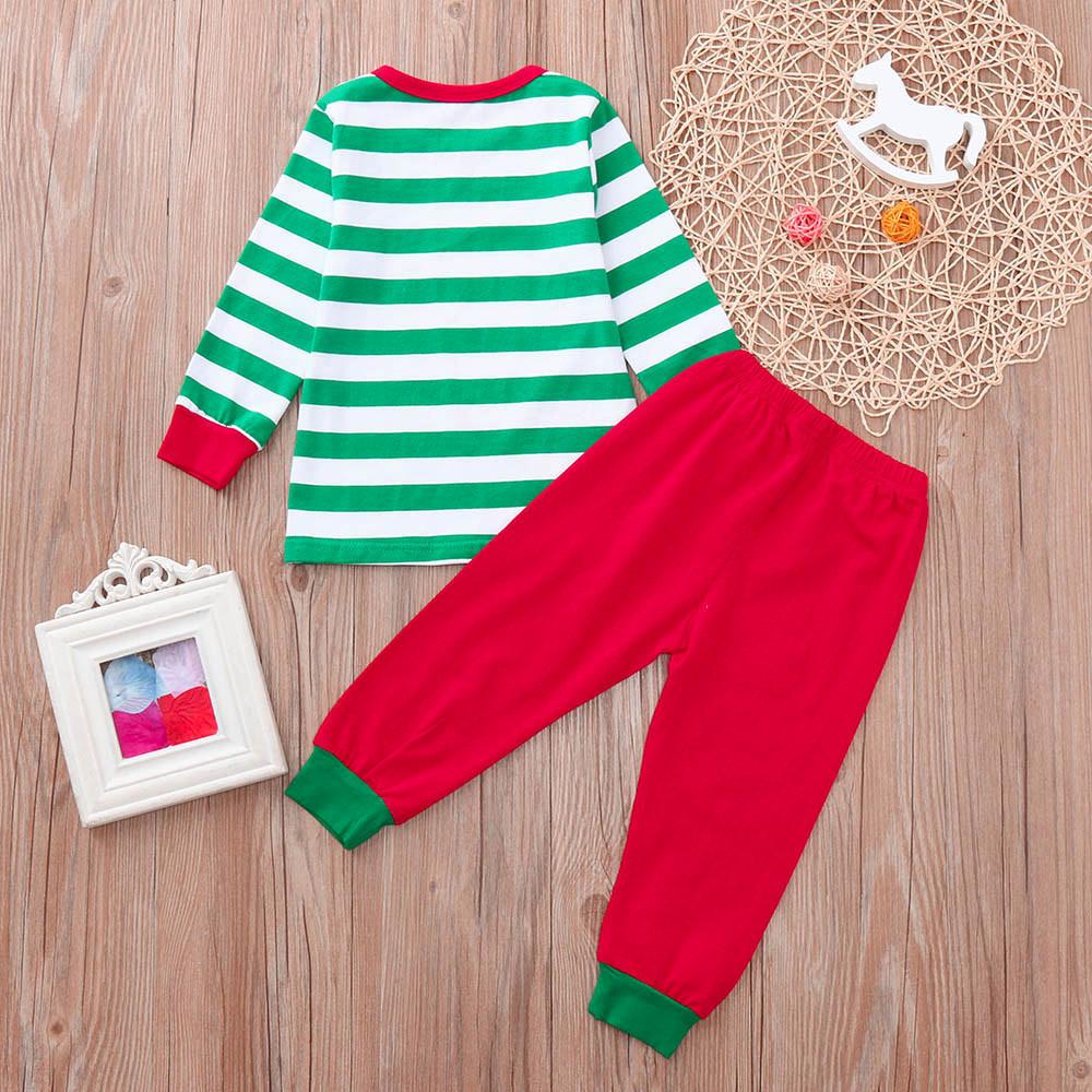 good quality Fashion Baby Clothes Set Girl Boy Santa Claus Christmas Snowman deer Tops+Pants Outfits Set conjunto infantil roupas