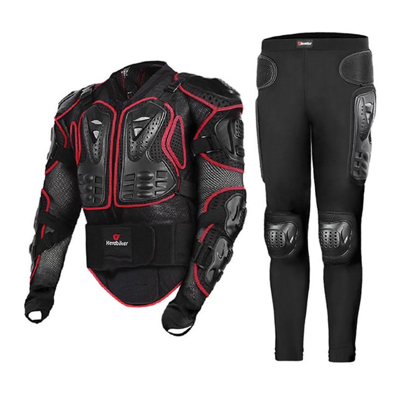 LELEADER Combinaison Veste de Moto Automne Hiver Moto-Veste Pantalon Vetement de Protection Complete Pantalon dEquitation Blouson Moto Homme Sport avec Armure Jacket Racing,A1,M