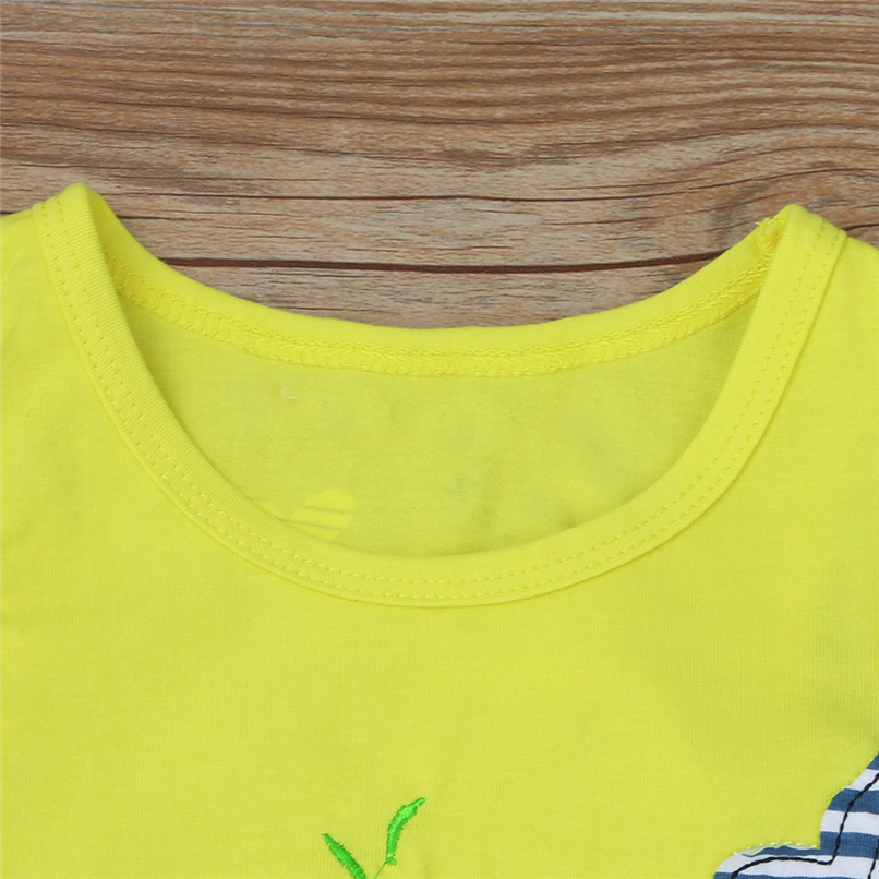 2PCS Baby Sets Newborn Baby Boys Girls Sleeveless Cartoon Whale Print Top+Striped Shorts Sets Clothes Suit For 6-24M M8Y07 (4)