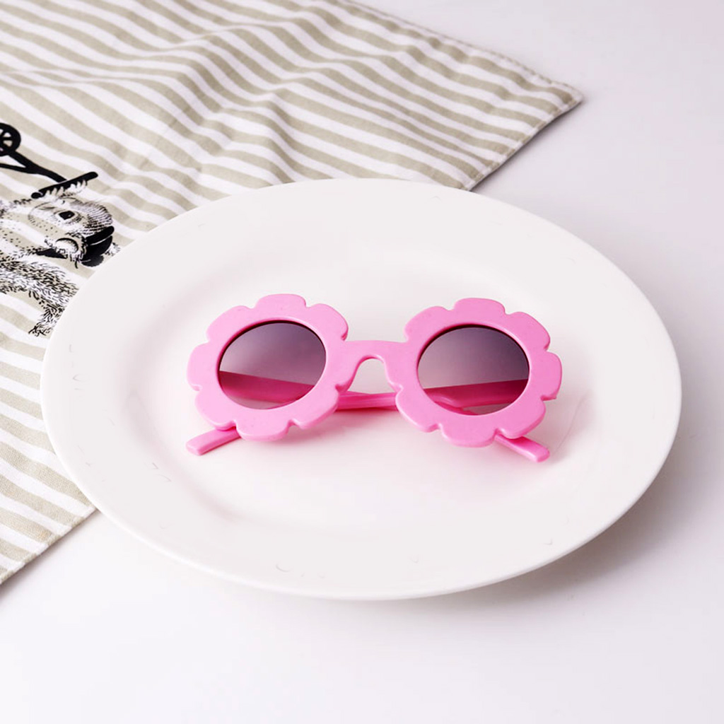 2 pieces Child Kids Boy Girl UV400 Outdoor Sunglasses Baby Flower Shades Goggles Glasses