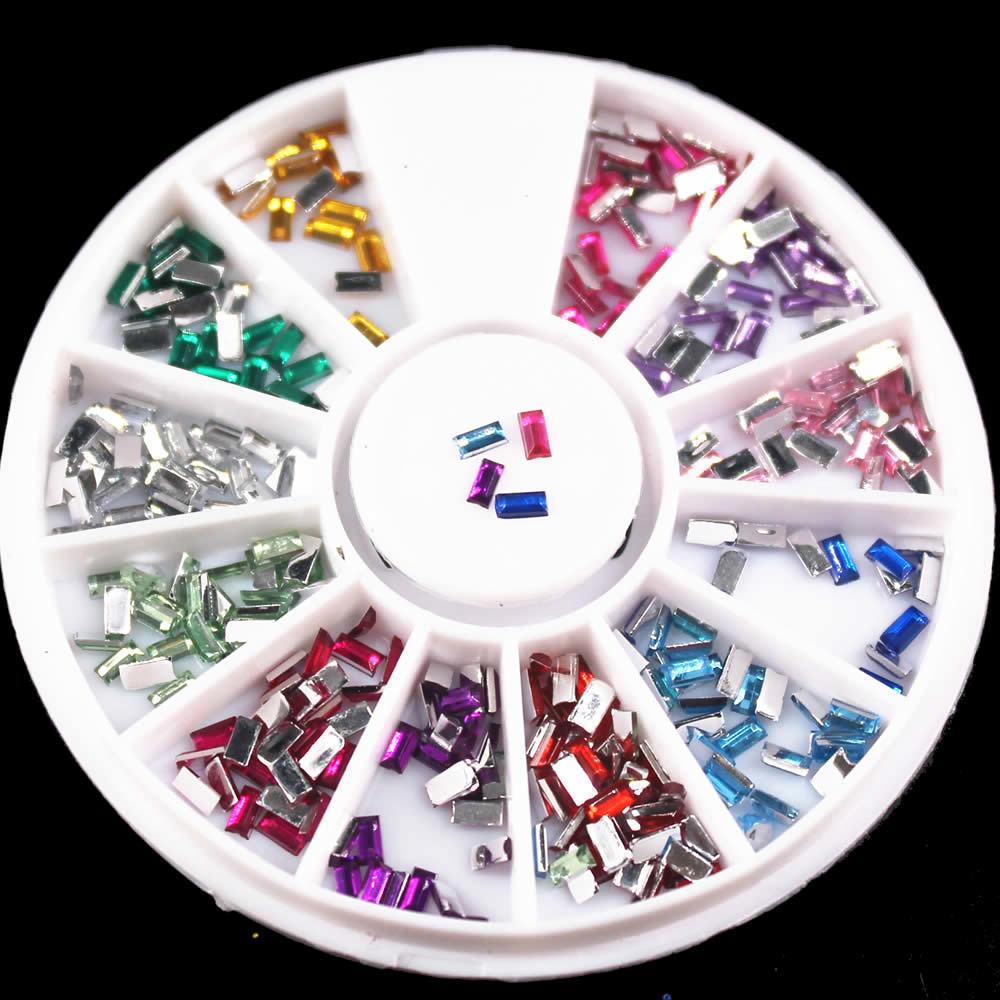 Kawaii 12 Farben Nagel Strass 2mm Acryl Nail art Strass Dekoration Für UV Gel Telefon Laptop DIY Nagel Werkzeuge C19011401