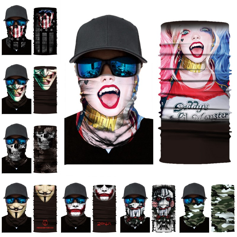 New Unisex Woman Half Face Mask Outdoor Headband Scarf Neck Windproof Face Mask Sun Protection Bandana Cycling Mask Dropshipping One Size G