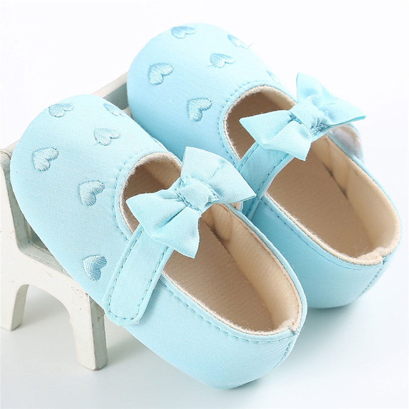 Summer Baby Girls Shoes Toddler Kids Baby Girl Canvas Solid Bow-knot Soft Sole Anti-slip Shoes Baby First Walker Shoes M8Y11 (10)