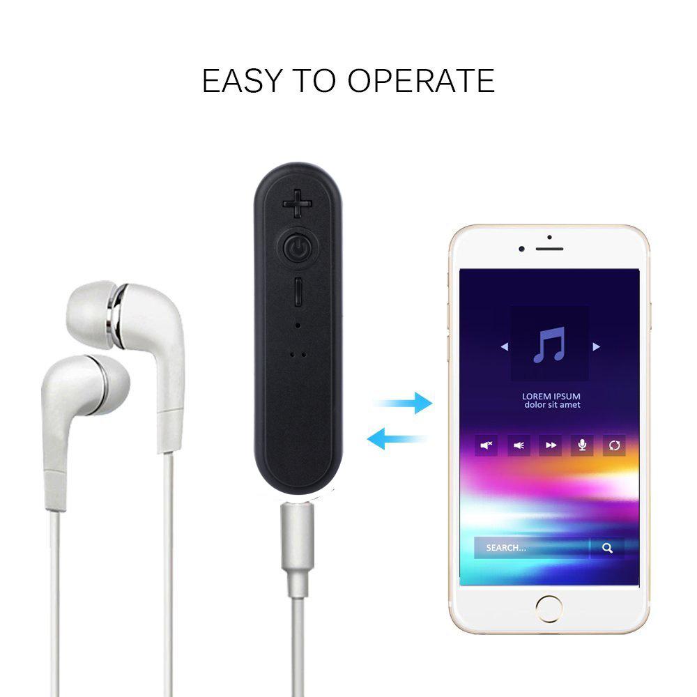 Pescoço Bluetooth Bluetooth Converter Receptor de Áudio Biaural Saída Redução de Ruído de Alta Definição Stereo Bluetooth Headset