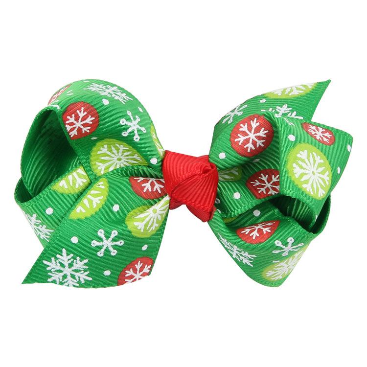 Boutique Cute Ribbon Hairpins Solid Cartoon Bowknot Hair Clips Xmas Party Headware Fashion Princess Hair Accessories
