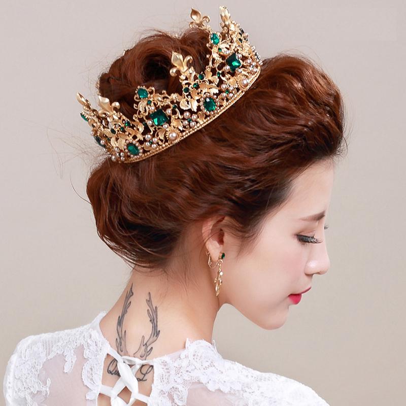 king-queen-baroque-crown-and-earrings-red-rhinestone-bride-tiaras-women-wedding-gold-crowns-bridal-hair (3)