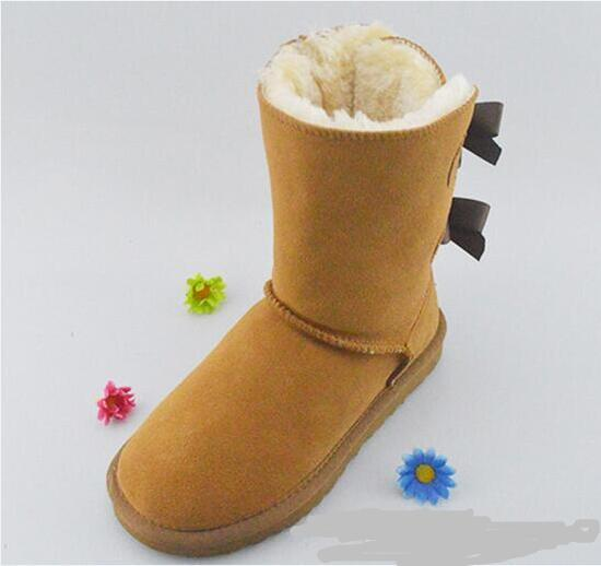 Christmas NEW Australia classic tall winter boots real leather Bailey Bowknot women