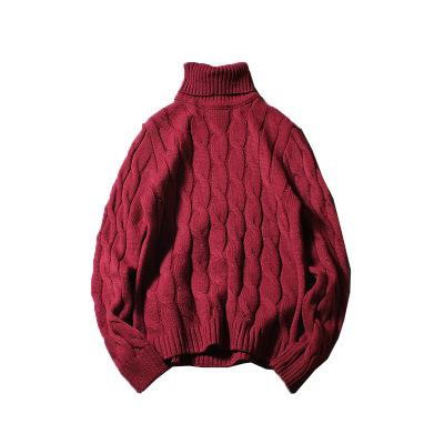 New Knitted Turtleneck Men Sweater Man Solid High Collar Winter Pullover Men Sweater Coat Mens Turtleneck Sweaters Drop Shipping