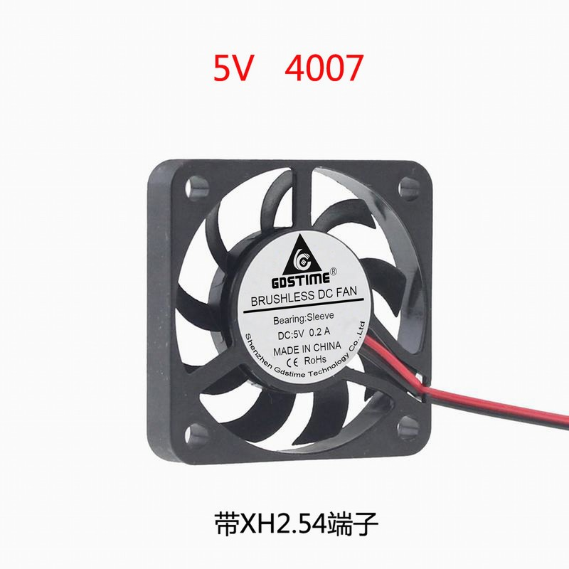 Wholesale 100pcs 5V 50mm 50x50x10mm Brushless Cooling Fan 9Blades 2PIN PH2.0